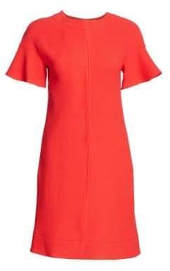 Lela Rose Women's Flutter Sleeve Floral Shift Dress - Coral - Size 2