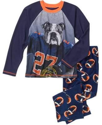 Faded Glory Boys' Thermal Top with Fleece Sleep Pants Pajama Set