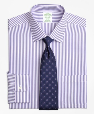 Brooks Brothers Milano Slim-Fit Dress Shirt, Non-Iron Tonal Bengal Stripe