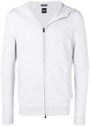HUGO BOSS zip-up hooded jacket