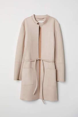 H&M Coat with Tie Belt - Light beige - Women