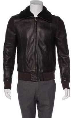 Dolce & Gabbana Lambskin Bomber Jacket