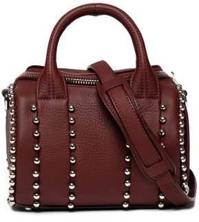 Alexander Wang Rockie Studded Textured-Leather Shoulder Bag