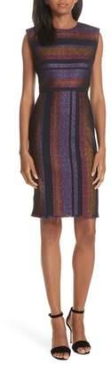 Diane von Furstenberg Metallic Stripe Sheath Dress