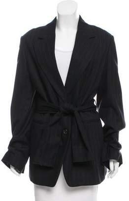 Ann Demeulemeester Wool Pinstripe Coat w/ Tags