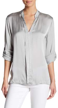 Luma Long Sleeve Satin Blouse