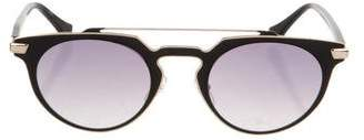 Calvin Klein Collection Mirrored Aviator Sunglasses
