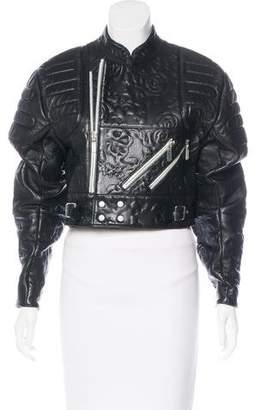 Christopher Kane Patterned Leather Jacekt