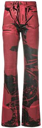 Calvin Klein painted print flared jeans