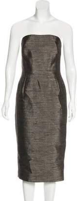 Victoria Beckham Strapless Midi Dress
