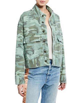 Amo Denim Army Patch Camo Jacket