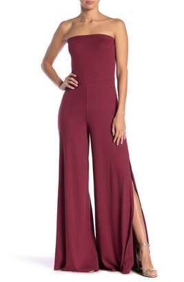 9744a159bbe Couture Go Strapless Slit Leg Jumpsuit