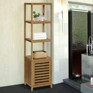 Gallerie Decor Bamboo Natural Spa 5 Shelf Tower/Cabinet
