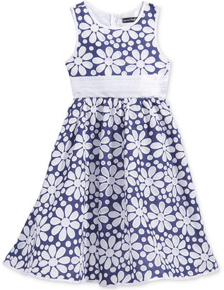 Crystal Doll Chambray Floral Dress, Big Girls (7-16) $94 thestylecure.com