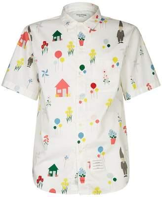 Thom Browne Gnome Print Casual Shirt