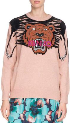 Kenzo Claw Tiger Logo Crewneck Sweater