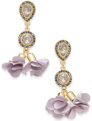 INC International Concepts I.n.c. Gold-Tone Crystal Petal Double Drop Earrings