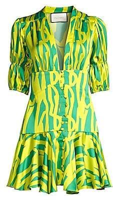 Alexis Women's Idun Puff-Sleeve Corset Mini Dress