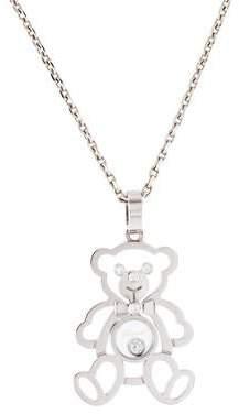 f8ed3c99d1e042 Chopard 18K Diamond Teddy Bear Happy Diamonds Pendant Necklace