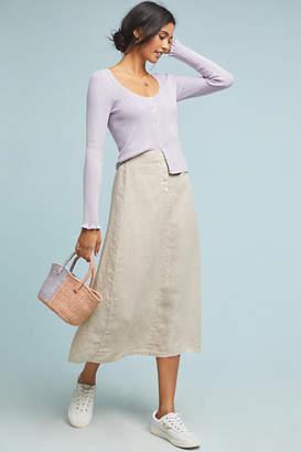 Velvet by Graham & Spencer Kiara Linen Midi Skirt