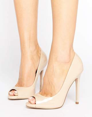 Asos DESIGN PRAISE Peep Toe High Heels