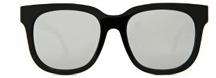 Gentle Monster Didi D 56Mm Square Sunglasses - Black/ Silver $240 thestylecure.com