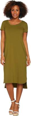 Halston H By H by Regular Essentials Knit Midi Dress w/ Shirttail Hem