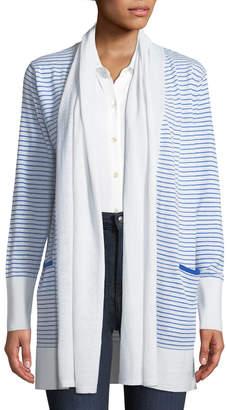 Neiman Marcus Striped Duster Cardigan