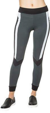 Blanc Noir Pirouette Striped Leggings