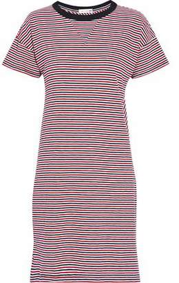 Rag & Bone Striped Cotton-Jersey Mini Dress