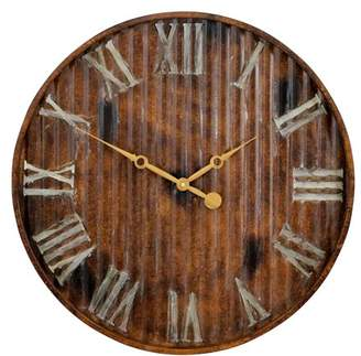 Aspire Home Accents Marcelle Metal Wall Clock