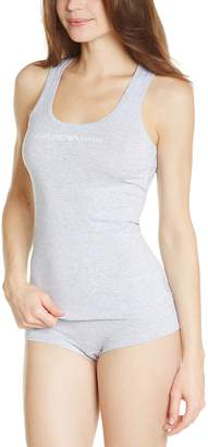 Emporio Armani Women's Essential Stretch Cotton Tank, Grey Melange