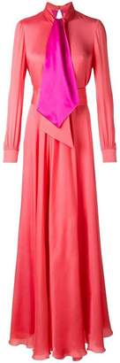 Lanvin tied neckline maxi dress