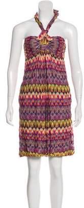 Missoni Knit Halter Mini Dress