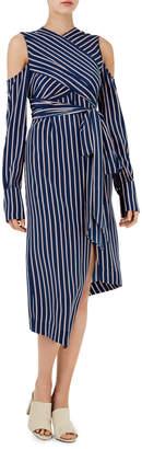 Nicholas D1505PS Pinstripe Wrap Dress