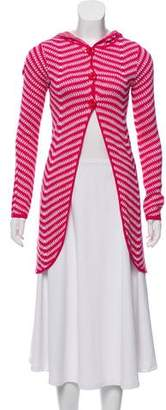 Alice + Olivia Hooded Knit Cardigan