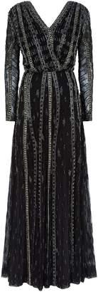 Rachel Gilbert Nadette Embellished Beaded Gown