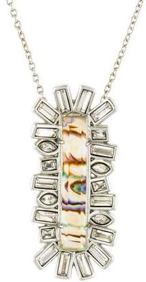 Alexis Bittar Abalone & Crystal Pendant Necklace