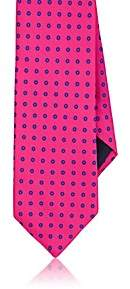 Barneys New York MEN'S CIRCLE-PRINT SILK SATIN NECKTIE-PINK
