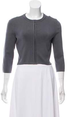 Narciso Rodriguez Zip-Up Cropped Top