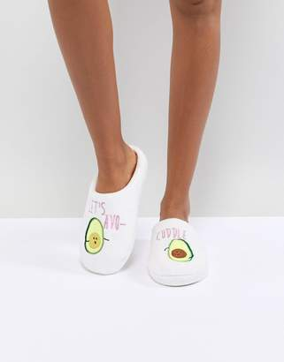 Asos DESIGN Never Leave Avo-Cuddle Slippers