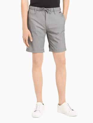 Calvin Klein slim fit seersucker windowpane shorts