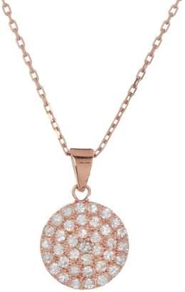 Suzanne Kalan 14K Gold White Sapphire Pendant Necklace