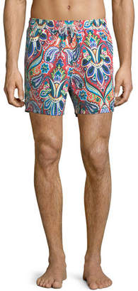 Etro Floral Paisley-Print Swim Trunks