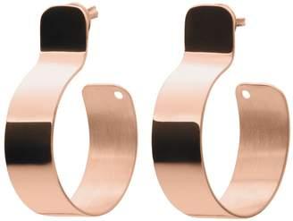 Ekria - Timeless Tres Hoop Earrings Shiny Rose Gold