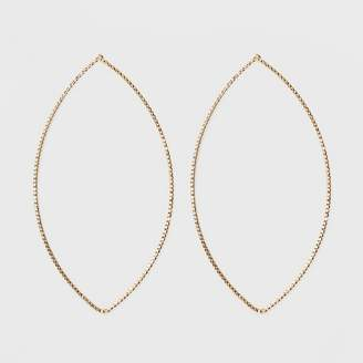 A New Day Oval Shaped Hoop Earrings