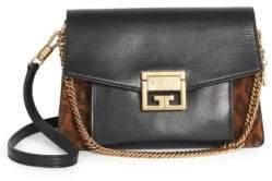 Givenchy Small GV3 Leopard Suede Shoulder Bag