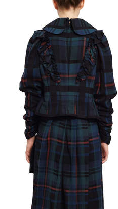 Chika Kisada Plaid Ruffle Shirt