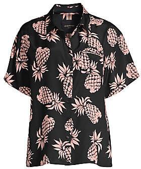 Le Superbe Women's Club Tropicana Embellished Print Shirt
