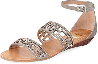 Premium Collection By Yellow Box Violet Embellished Flat Sandal
